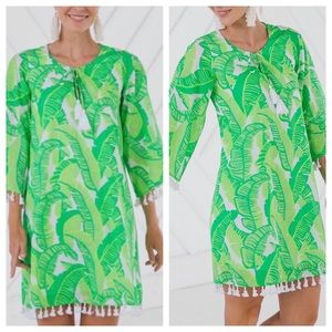 Sail to Sable Palm Print Tassel Tunic